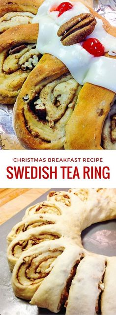 How to make a Swedish Tea Ring - easy recipe for Christmas morning breakfast. It's a holiday tradition in my family, and my mom is here to show you how to do it! desserts for christmas Christmas Tea, Christmas Baking, Christmas Parties, Swedish Christmas Food, Scandinavian Christmas, Christmas Design, Traditional Christmas Breakfast, Swedish Christmas Decorations, Swedish Christmas Traditions