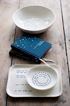 Poetry meets Pottery. LOVE it.