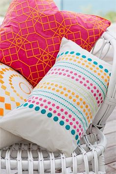 Buy Bedding Online at EziBuy | Bed linen includes sheet sets, duvet covers, blankets, quilts - Exotic Rectangle Cushion