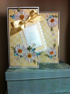 Charisma daisy fold back card. Tattered lace