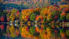 Foliage in Vermont (Photo credit Kent Shaw/Vermont Tourism Department)