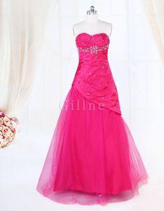 Taft Meerjungfrau Romantisches Bodenlanges Zierliches Abendkleid