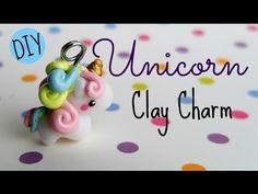 Swirly Kawaii Unicorn polymer clay charm tutorial