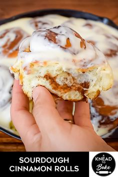 These Sourdough Cinnamon Rolls are perfect for any occasion Made with an exquisite sweet dough a full of flavor cinnamon filing and a not-too-sweet Cream Cheese icing they are guaranteed to be a huge hit Dough Starter Recipe, Sourdough Starter Discard Recipe, Sour Dough Starter, Starter Recipes, Sourdough Cinnamon Rolls, Sourdough Recipes, Cinnamon Bread, Scones, Sweet Dough