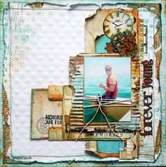 Wow ... Caribbean blue waters and rusty accents.  This is simply breathtaking work.  Heather Jacob