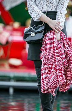 sandro reem,Simone Rocha Tweed Scarf,Casadei Blade Boots,Valentino Glam Lock Camo Bag,Casadei OTK Boots,Christmas outfit,Simone Rocha Tweed shawl,Sandro Reem Dress,New Year Outfit idea 2015,sandro reem lace dress,Sandro Dress,Valentino Glam Lock Bag,Casadei Boots,Christmas in LA,VALENTINO Glam Lock camouflage shoulder bag
