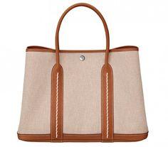 Hermes Canvas Garden Party Bag