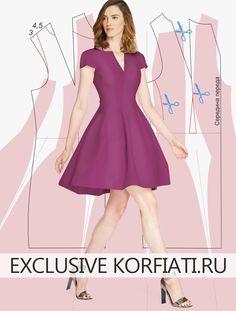Пошив платья нестандартного кроя. У этого платья очень необычный крой юбки, яркий эффектный цвет фуксии и потрясающе женственный облегающий силуэт лифа.