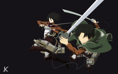 Mikasa and Levi by Kiisu-kun on DeviantArt Laptop Wallpaper, Wallpaper Pc, Minimalist Wallpaper, Attack On Titan Levi, Alucard, Levi Ackerman, Anime Characters, Fictional Characters, Mikasa