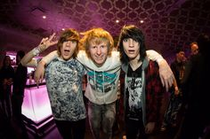 Damon Fizzy, Johnnie Guilbert, and Bryan Stars at The Warped Tour Kick Off Party