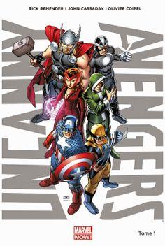 Comics - UNCANNY AVENGERS T.1 de REMENDER RICK, CASSADAY JOHN et COIPEL OLIVIER - 14.20€ (-5%) sur sauramps.com #superheros #avengers #marvel