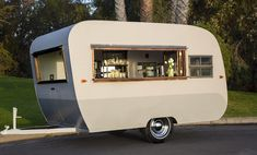 Little Local- a 1954 vintage camper that has been transformed into a charming mobile bar space