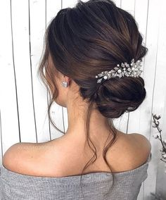 Beautiful wedding hairstyles for the elegant bride # bride # elegant # wedding Bride Hairstyles Beautiful bride Elegant Hairstyles Wedding Prom Hair Updo Elegant, Elegant Wedding Hair, Elegant Bride, Elegant Hairstyles, Bride Hairstyles, Gorgeous Hairstyles, Romantic Updo, Wedding Hair Half, Wedding Hair And Makeup