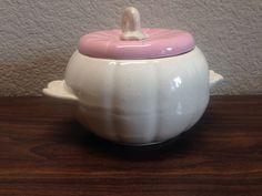 Vintage Hoenig of California Pumpkin Pot Mid Century 1950s Ceramic