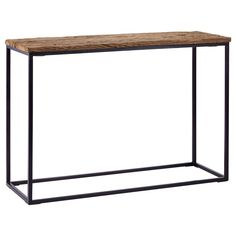Atelier - Griffintown - Reclaimed wood-top console table with metal base/CONSOLES & MEDIA CONSOLES/SHOP BY PRODUCT/ATELIER BOUCLAIR|Bouclair.com