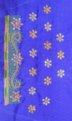 Simple Embroidery, Embroidery Designs, Fancy Blouse Designs, Brazilian Embroidery, Beaded Bags, Work Blouse, Hand Designs, Embroidered Blouse, Designer Clothing