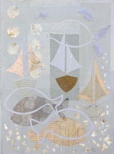 _erinnerung an Israel_collage on cardboard, 60x80cm Collage Artwork, Israel, Memories, Cut Paper Illustration