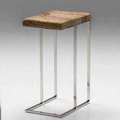 Mobital Provence Reclaimed Pine Wood End Table
