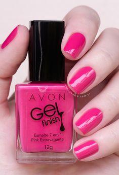 Conheça todas as cores da coleção Avon Gel Finish! Avon Nail Polish, Avon Nails, Fabulous Nails, Perfect Nails, Almond Nails Designs, Nail Designs, Red Weave Hairstyles, Essie, Nail Manicure