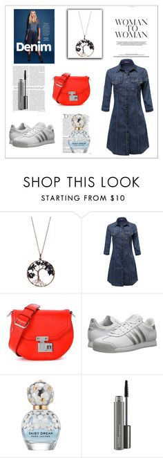 """""""Fashion 101: Quirky and Easy Breezy Denim"""" by josehline on Polyvore featuring Braided Birch, Rebecca Minkoff, adidas Originals, Balmain, Marc Jacobs and MAC Cosmetics"""