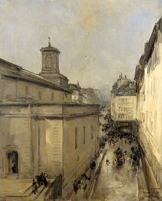 View of the Church of Notre Dame de Lorette and the Rue Fléchier, Paris, Antoine Vollon, c. 1860 - c. 1900