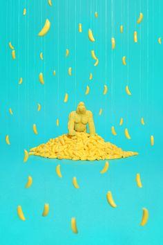 """Dollar Store"" by Benoit Paillé #banana #blue #yellow - Carefully selected by GORGONIA www.gorgonia.it"