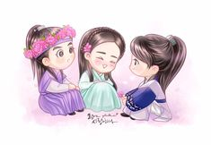 The king loves Yoona, Snsd, Hong Jong Hyun, Kawaii, Love S, Girls Generation, Chibi, Sisters, Fan Art