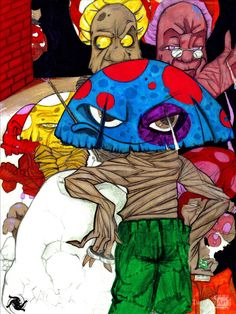 I'm your Pusher… man! by Boston artist Derrick Trotman.