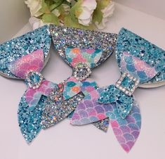 48 ideas for sewing projects headbands hair bows Handmade Hair Bows, Diy Hair Bows, Diy Bow, Diy Hair Bow Holder, Bow Holders, Bow Template, Templates, Mermaid Glitter, Glitter Hair