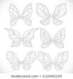 Pin Up Tattoos, Time Tattoos, Body Art Tattoos, Fairy Drawings, Bff Drawings, Fairy Wings Drawing, Buterfly Drawing, Fairy Wing Tattoos, Art Drawings Beautiful