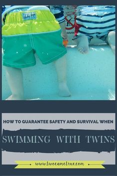 The thought of taking two babies to the pool can seem like an overwhelming unsafe task! It's hard enough to bathe two babies, let alone safely taking them near huge bodies of water! Safely swimming with twins is a huge undertaking, but not completely impossible. So in order to make this favorite summer adventure a reality, you will want to be adequately prepared to make it an enjoyable (and positive) experience for everyone. This post has 5 useful tips for keeping your twins...