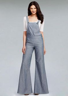 4572c7bc6b758 Chambray Overall - Plus Size Jeans - Alloy Plus - Alloy Apparel Clothing  For Tall Women