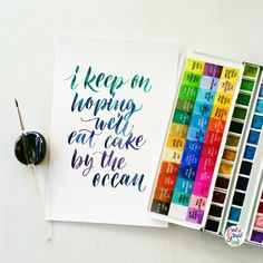 My LSS today while beating a deadline..  #calligrafikas #grafikas #dreweuropeo #moderncalligraphy #lettering #handlettering #brushlettering #watercolor Paper: Canson 200gsm Paint: Holbein w/c Brush: Princeton 4950 series round no 2