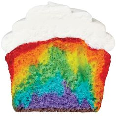 Layering Cupcake Colors - Have fun with your cupcake batter! Look at the cool patterns you can bake just by piping different color batters in the baking cup using a cut disposable bag.