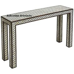 456f723b3c6b Bone Inlay Geometric Design Console Table - Bohemian Artefacts  www.bohemianartefacts.com  BoneInlayFurniture
