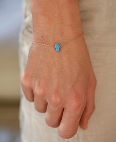 Hamsa Hand Bracelet Opal Hamsa Hand Bracelet Tiny by MinimalVS, $37.00