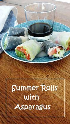 Summer Rolls mit grünen Spargel - Perfekt für den Sommer