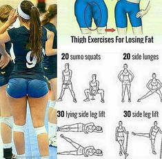 Healthy | Physique | Tips Thigh exercises for losing fat! Follow us (@gymethods) for the best daily workout tips ⠀ All credits to respective owner(s) // Dm Tag a friend who'd like these tips . . . #sexythigh #thigh #thighs #girls #legs #train#workhard #workout