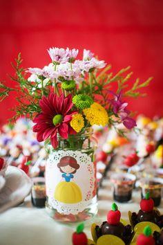 Snow White + Apple themed birthday party with Such Cute Ideas via Kara's Party Ideas