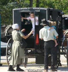 Amish-Horse-and-Buggies in Holmes County, Ohio. Great place to visit.