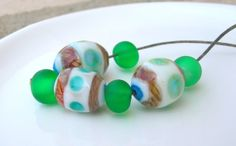 Glorious Green Glass Goodies by Pat Davis on Etsy