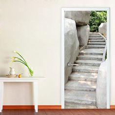 optische t uschung mit fototapete f r innent ren treppe. Black Bedroom Furniture Sets. Home Design Ideas