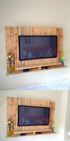 Build a Dog House with Recycled Pallets A simple pallet project showing you ho.-Build a Dog House with Recycled Pallets A simple pallet project showing you ho…, … - Wooden Dog House, Build A Dog House, Recycled Pallets, Wooden Pallets, Pallet Furniture Tv Stand, Pallet Tv Stands, Wooden Pallet Projects, Pallet Ideas, Tv Wall Design