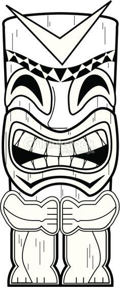 Dead End Tiki Totem Pole Coloring Pages sketch template - Sketch Templates - Ideas of Sketch Templat Hawaiian Birthday, Hawaiian Theme, Luau Birthday, Hawaiian Luau, Hawaiian Parties, Hawaiian Grill, Birthday Parties, Survivor Theme, Survivor Party