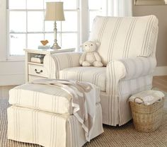 This would be PERFECT!!!    PB Kids Comfort Grand Swivel Glider & Ottoman | Pottery Barn Kids