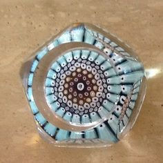 Vintage Whitefriars 1970 Sailing of Mayflower,Concentric Millefiori Paperweight
