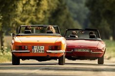 Alfa Spider 1750 Veloce and Fiat 124 Sport Spider
