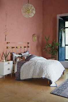 Find the bedding of your dreams at Anthropologie. Shop unique bohemian bedding, textured and feminine styles. Home Decor Bedroom, Bedroom Furniture, Home Furniture, Room Decor, Boudoir, Bohemian Bedding, Bohemian Decor, Boho Chic, Home Trends