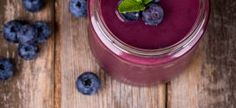 Healthy Start Blueberry Coffee Breakfast Smoothie