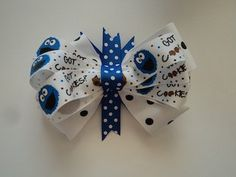 Layered Cookie Monster Hair Bow by cheerfuldianna80 on Etsy, $7.00
